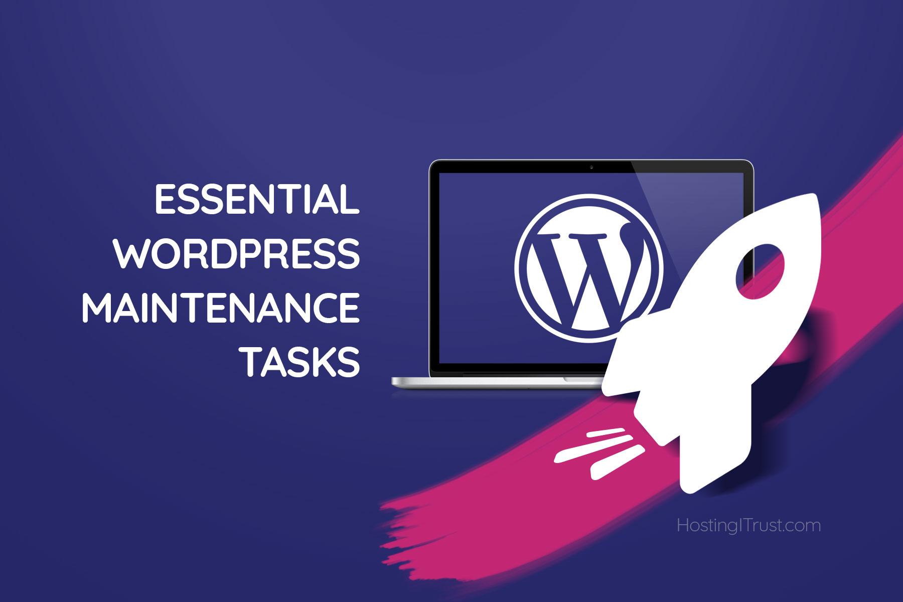 WordPress Maintenance Task banner