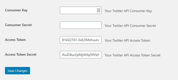 Your twitter access token retrieved by the plugin